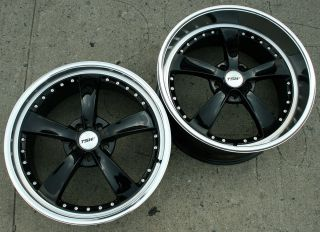 19 Black Rims Wheels Ford Mustang Staggered 19 x 8 0 9 5 5H 40