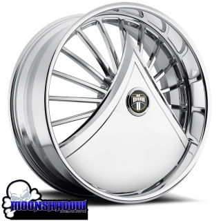 DUB SKIRTS SHOKKA S601 FLOATING CHROME WHEELS RIMS FLOATERS SPINNERS