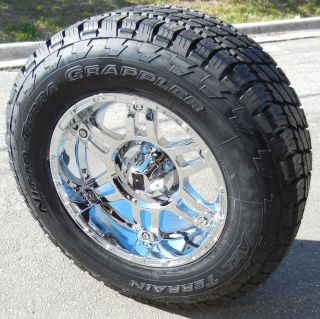 18 Chrome XD Spy Wheels 33 Nitto Terra Grappler Tires Chevy GMC 1500