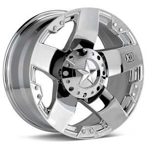 XD775 18x9 0 Rockstar Wheels Tires Chrome Rims Nitto Tires