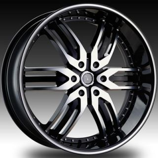 26 Velocity 125 Black Wheels Rims Tires Ford Expedition F150 F 150