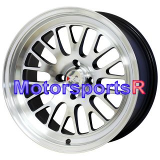 16 16x8 XXR 531 Machine Black Wheels Rims Deep Dish 4x114 3 Nissan