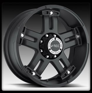 394 Warlord 17 inch Matte Black 6x135 Expedition Wheels Rims 12