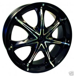Trailblazer GMC Envoy Ranier 9 7x 20 Black Wheels Rims