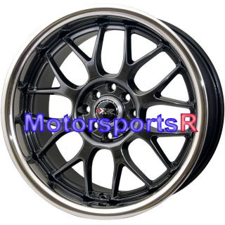 XXR 006 Chromium Black Deep Dish Lip Rims wheels 4x114 3 20 Offset x 9