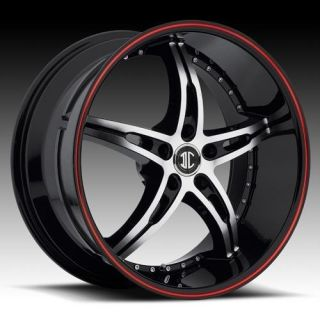 22 inch 2CRAVE NO14 Black Wheels Rims 5x115 300C Charger Magnum