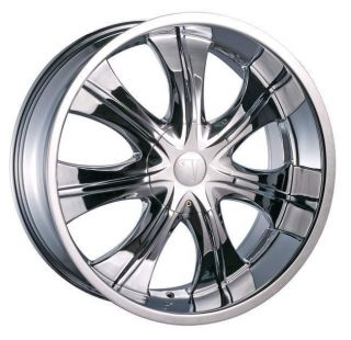 24 Wheels Rims Package Free Tires Velocity V750 Chrome Deep Lip 5x120