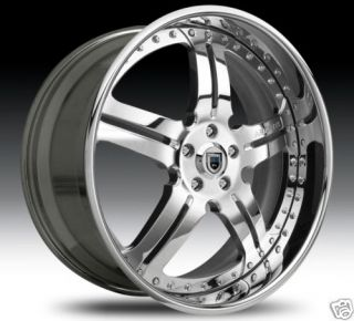 20 asanti AF135 Wheels Tires Chrome 2 Piece Rims 2pc