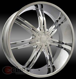 24 inch B14 Chrome Wheels Rims 6x135 Lincoln Navigator