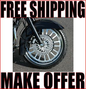 NEW CHROME 21 X 3 5 FRONT SUPER SPOKE WHEEL RIM HARLEY TOURING FLHT