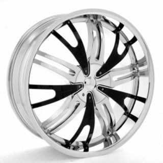 23 inch Starr Impact Chrome wheels w black inserts Rims not 20 22 or
