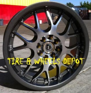 16 inch YL094GM Gunmetal Machin Rims and Tires 4x100 Accord Civic Fit