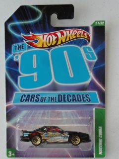 Hot Wheels The 90s Cars of The Decades Mustang Cobra 27 32