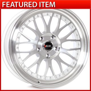 18 18x8.5 5x114.3 +25 MACHINED/SILVER WHEELS RIMS IS300 G35 350Z CAMRY