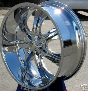 26 Chrome 725 Rims Wheel Tires Silverado Armada QX56