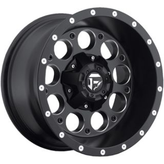 15x10 Black Fuel Revolver Wheels 5x4 5 5x4 75 Rims
