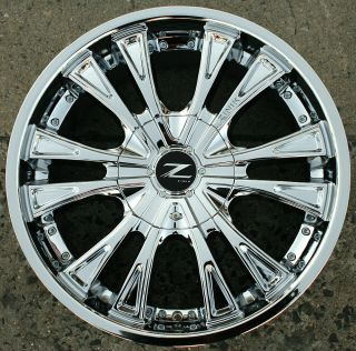 Zinik Z29 22 Chrome Rims Wheels Cutlass Sierra rwd 22 x 9 5 5H 15