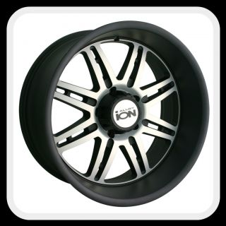 ION Alloys style 183 Wheels Rims 18x9, 8x6.5 Matte Black w/ machine