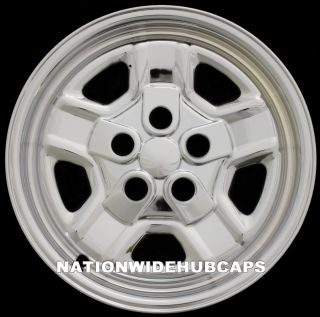 CHROME Wheel Skins Hub Caps Rim Covers fits 5 Spoke Steel Wheels