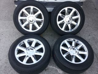 20 GMC Yukon Denali Sierra Chrome Wheels Tires 275 55 20 TPMS