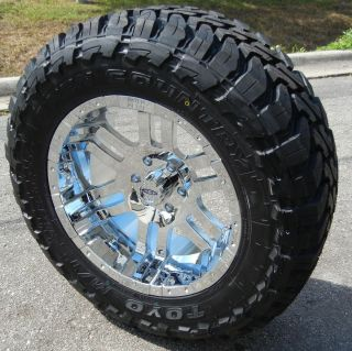20 Chrome Moto Metal 951 Wheels 33 Toyo MT Tires Toyota Tundra 5x150
