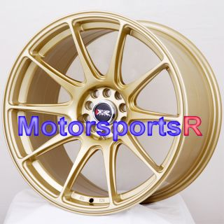 18 XXR 527 Gold Concave Rims Staggered Wheels Stance 06 11 12 Lexus