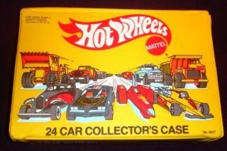 1983 Hot Wheels Hot Wheels 24 Car Collectors Case Unplayed w Mint Made