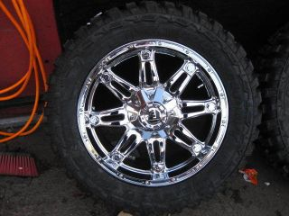 20 Fuel Hostage Offroad Chrome Rims Federal 33x12 50R20 Couragia MT