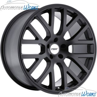 17x8 TSW Donington 5x112 32mm Matte Black Rims Wheels inch 17