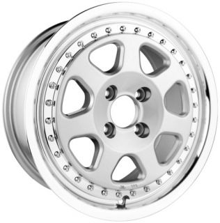 DR27 Wheel 15 Rims 4 Lugs 4x100 Silver 40 Offset Dr 27