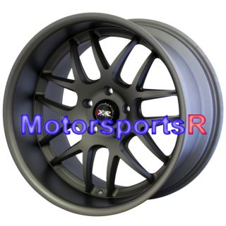 526 Flat Gun Metal Gray Staggered Wheels Rims Stance 5x114 3