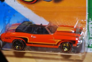 2012 Hot Wheels 1970 Chevy Chevelle Convertible Treasure Hunt Orange