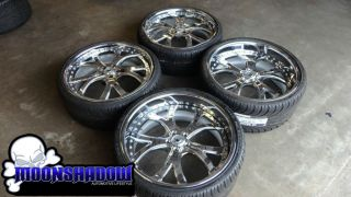 Asanti AF 143 22 Chrome Wheels Rims Mercedes s Class S550 Nexen N3000
