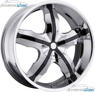 Platinum 211 Widow 6x139 7 6x5 5 6x135 30mm Chrome Wheels Rims Inch 22