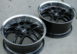 RVM 330 18 BLACK RIMS WHEELS BMW E36 E46 E92 3 Series   18 x 8.0 / 9