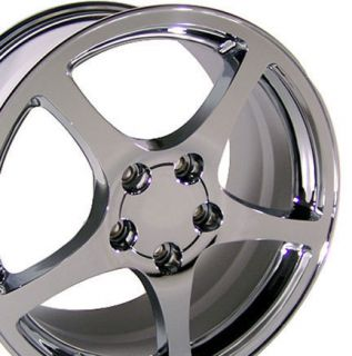 17 18 8 5 9 5 Chrome C5 Style Wheels Rims Fit Camaro Corvette