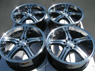 Black Wheels Volvo V50 V70 Pontiac G5 G6 Focus Alloy 5 Lug Rims