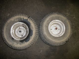 16HP Craftsman Auto 42 Mower Rear Rims and Tires