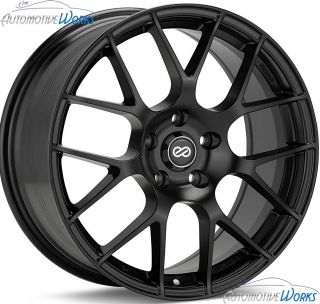 18x8 Enkei Raijin 5x112 45mm Black Rims Wheels inch 18