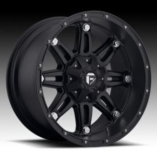 MHT Fuel Hostage 8x170 Et 44 Matte Black Wheels 4 New Rims