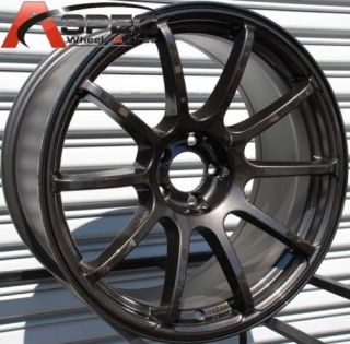 18x9 Rota G Force Wheels 5x114 3 Rim Subaru STI 240sx