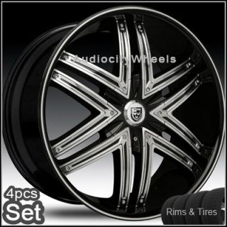 24 Rims and Tires Wheels Chevy Ford Lexani Escalade
