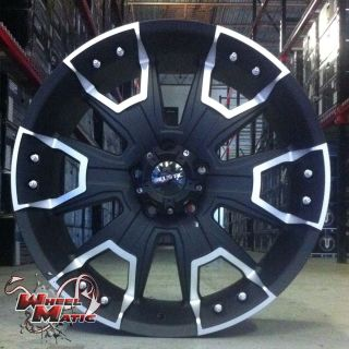 New 22 x9 5 Ballistic 904 5x139 7 et 15 Black Offroad Wheels Rims XD F