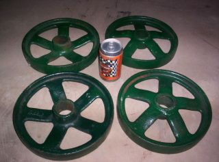 John Deere Hit Miss Gas Engine 1 1 2 3 HP Cast Iron Cart Wheels