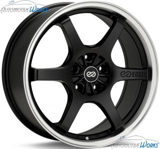 Enkei SR6 5x114 3 5x4 5 40mm Matte Black Machined Rims Wheels Inch 18