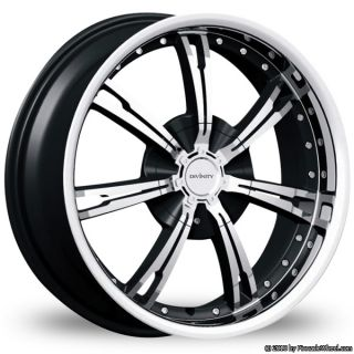 5x4 5 5x120 Black Divinity Racing D60 Wheels Rims 5 Lug Accura Honda