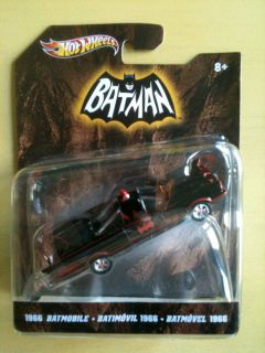 Hot Wheels 2012 1 50 scale 1966 BATMOBILE black Batman TV Series