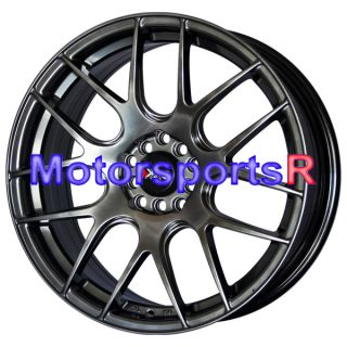 Chromium Black Concave Wheels Rims 03 Acura TL CL 04 TSX 06 RSX