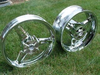 Roadstar Warrior Chrome Rim Wheel Rims Wheels Front Rear XV1700 Road