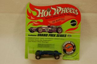 Hot Wheels Redline Shelby Turbine Bright Blue Mint Carded MOC / BP Wow